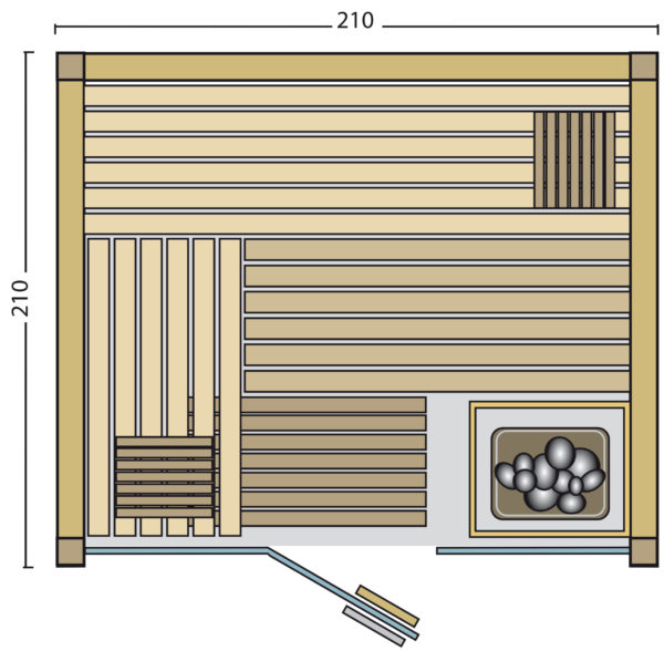Sauna panorama 210 - Grundriss