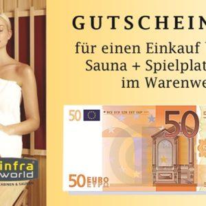 Saunagutschein 50€ Euro