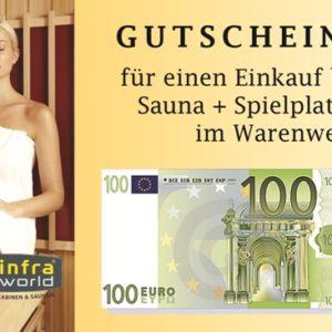 Saunagutschein 100€ Euro