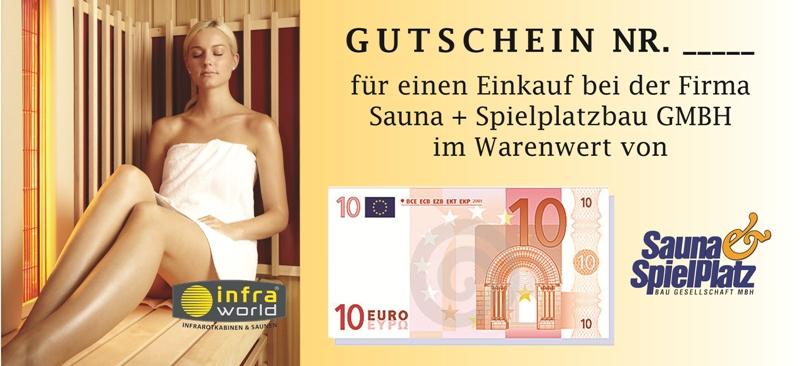 Saunagutschein 10€ Euro