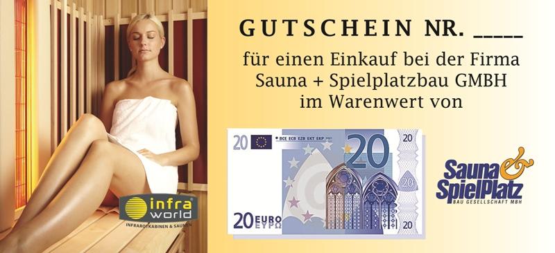 Saunagutschein 20€ Euro