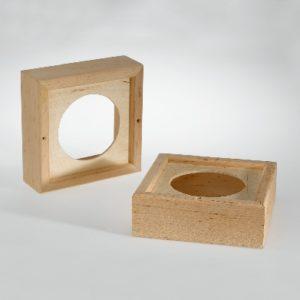 Holzrahmen für Sauna-Lautsprecher