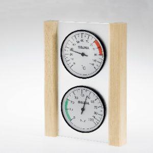 Klimamessstation mit Glas/Holzrahmen in Fichte