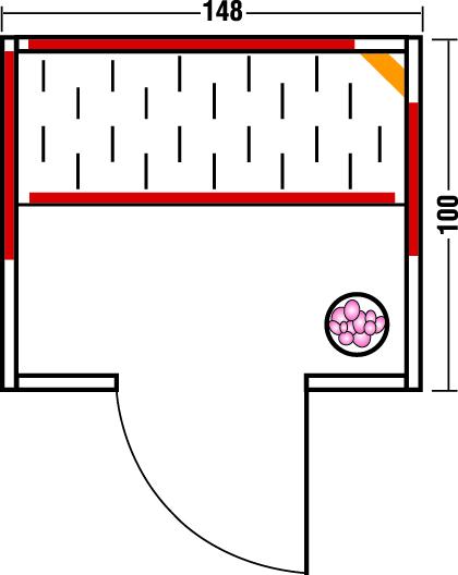 Infrarotkabine TrioSol Natura 148 - Grundriss