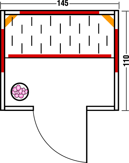 Infrarotkabine TrioSol Rio 145