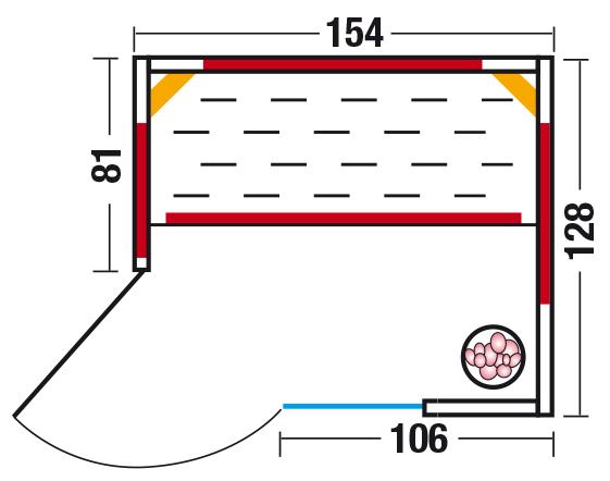 Unica 1 - Grundriss Eckeinstieg links