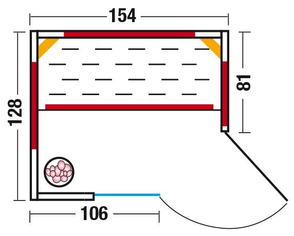 Unica 1 - Grundriss Eckeinstieg rechts