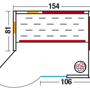 Unica 2 - Grundriss Eckeinstieg links