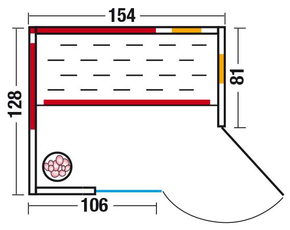 Unica 2 - Grundriss Eckeinstieg rechts