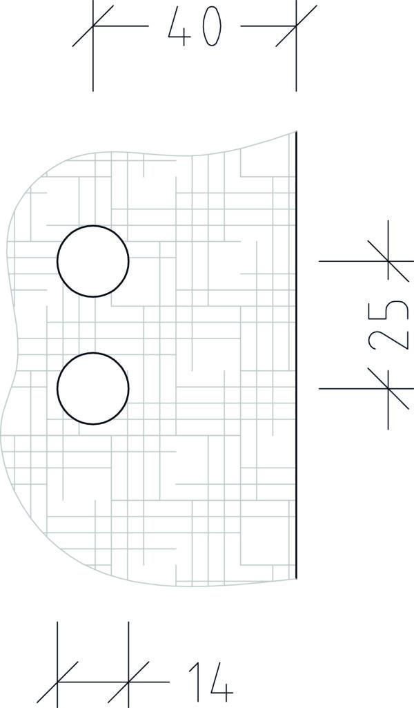 Bohrskizze für Türbänder