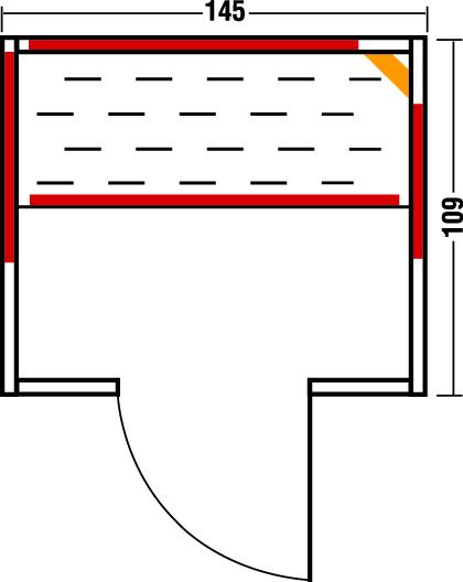 Infrarotkabine Vario 145